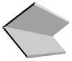 Декоративный ПВХ-уголок для монтажа пластиковых потолков