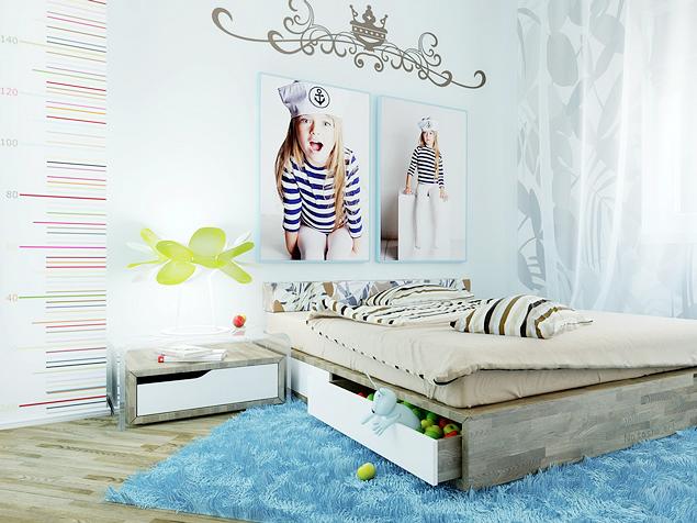Идеи интерьера и мебели комнаты для девочки